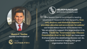 the matian firm donates to neuromuscular disease foundation